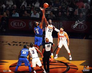 """DEANDRE AYTON Signed Phoenix Suns 16"""" x 20"""" """"Tip Off"""" Photograph STEINER LE 50"""