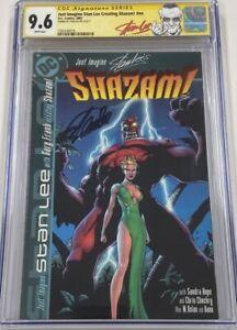 DC Comics Just Imagine Stan Lee's Shazam Autograph Signed by Stan Lee CGC 9.6 SS