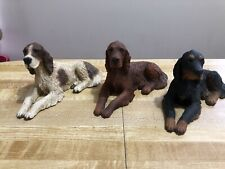 Castagna Dog Figurines Irish Setter, English Setter, Gordon Lot Of 3 Lovely!