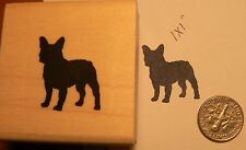 P51 Boston Terrier Rubber Stamp