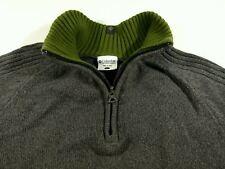 J188 COLUMBIA heavy zip neck cotton jumper sweater size L, excellent condition!
