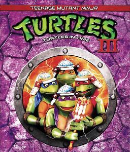 Teenage Mutant Ninja Turtles III: Turtles in Time (Blu-Ray, 1993) Free Shipping