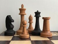 Pieces Only New Large Wooden Weighted Chess Game Set Tournament Vintage Style