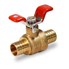 1 Inch Full Port Pex Barb Ball Valve Water Shut Off With Tee Handle Brass