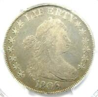 1806 Draped Bust Half Dollar 50C Coin - Certified PCGS Fine Details!