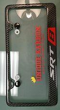 Handmade carbon fiber SRT8 Jeep Challenger Charger license plate frame Badge Srt