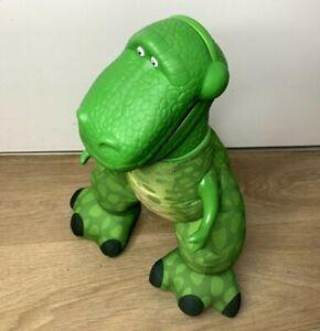 Genuine Fisher Price 2009 Toy Story Big Roarin Rex-Push Belly-Plush-Plastic Head