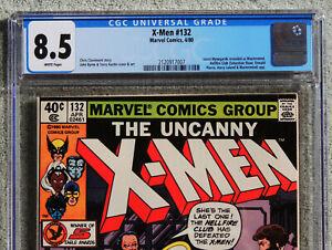 X-MEN #132, CGC 8.5 VF+, White Pages, Marvel Comics, 1980