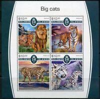 SOLOMON ISLANDS 2017 BIG CATS SHEET MINT NH