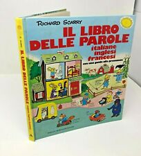 Richard Scarry IL LIBRO DELLE PAROLE Italiane Inglesi Francesi Vintage