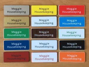 8 Engraved Name Badges - shops clubs pub schools etc.