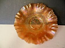 """FENTON CARNIVAL GLASS DRAGON AND LOTUS MARIGOLD 9"""" WIDE EARLY 1900's"""