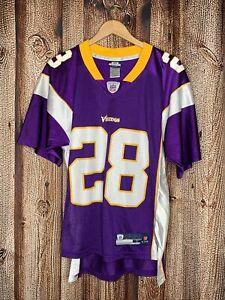 Adrian Peterson Minnesota Vikings Football Jersey NFL Reebok Shirt Purple Small