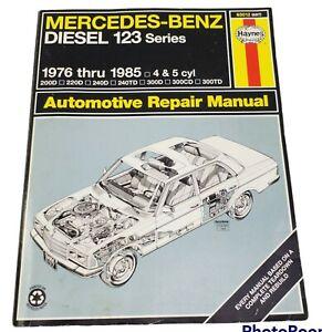 1976 - 1985 Mercedes-Benz Diesel 4 & 5 cyl 123 Series Haynes Repair Manual 63012