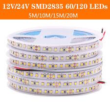 5M 10M 20M 2835 LED Strip light CRI>90 120LEDs/m Flexible Ribbon String lamp 24V