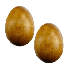 """Set of 2 Small Wooden Egg Shakers 2-3/4"""" Percussion Music Instruments"""