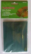 """100 x Wire Twist Ties Plastic Coated 12.5cm 5"""". Garden Plant Tie"""