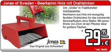 Jonas of Sweden Blaubeerkamm - Beerenkamm Holz mit Drahtzinken