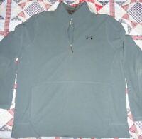 NWOT Men's Under Armour Off Grid Fleece 1/4 zip pullover XXL 1328166 Blue/Gray