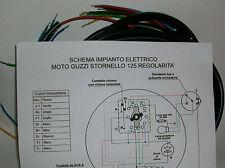 IMPIANTO ELETTRICO ELECTRICAL WIRING MOTO GUZZI STORNELLO125 REGOLARITA'+SCHEMA