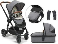 BabyLo Cloud XT Travel System Includes Maxi Cosi Adapters - Grey/Black