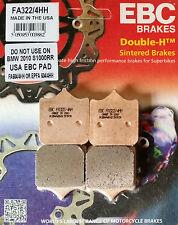 EBC/FA322/4HH Sintered Brake Pads (Front) - Aprilia RSV1000 Mille & Tuono*