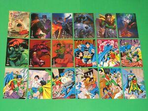 1994 BATMAN SAGA OF THE DARK KNIGHT SKYBOX 100 BASE CARD SET! CATWOMAN JOKER!