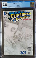Superman Unchained (2013 DC) #2 Lee Sketch Variant CGC 9.8 1:300