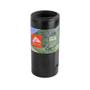 Ozark Trail Insulated Stainless Steel 12-Ounce Slim Can Drink Sleeve, Black