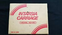 SILVER REED KNITMASTER KNITTING MACHINE PARTS AG20 INTARSIA CARRIAGE BOXED X1