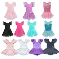 Toddler Girl Kid Ballet Tutu Skirt Skating Dress Dance Costume Leotard Dancewear