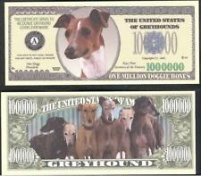GREYHOUNDS Million Note ~ Crisp  Fantasy Note ~ Lightning Fast Greyhounds
