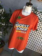 NBC THE BIGGEST LOSER Womens Run Walk Orange Clovers Athletic Shirt Top Sz XL