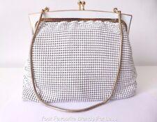GLOMESH Women's Bag Vintage White Mesh Evening Bag Made In Australia