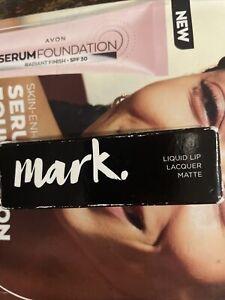 Avon Mark Liquid Lip Lacquer Matt Lipstick in Pinking About You Imperfect Box