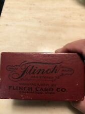 Antique Vintage Flinch 1900 Card Game
