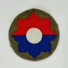 Patch US 9th INFANTRY DIVISION cut edge D-DAY WWII - 100 % ORIGINAL