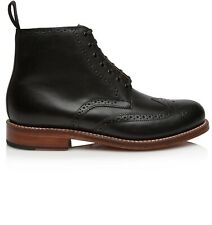 Grenson Alfred Wingtip Brouge Lace up Leather Ankle Boots 8 msrp