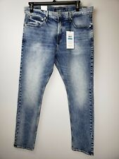 Men's Calvin Klein Acid Washed Jeans 36x32 Denim Modern Classics Moulant Skinny
