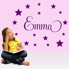 childs-Baby-Wall-Sticker-Personalised-Stars-Child-Name Bedroom Nursery girl/boy