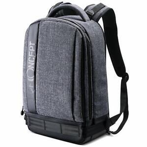 K&F Concept Large Grey DLSR Camera,13.3'' Laptop,Tripod Waterproof Backpack Bag