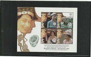 Dominica 2002 Golden Jubilee Mini Sheet MNH