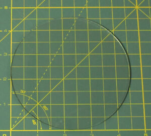 """4 ½"""" Convex Glass Dial Cover For Your Vintage Antique Radio or Clock Dial Face"""