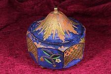 Caja Japonesa octogonal de madera policromada. S.XX Japanese octagonal box