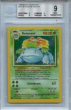 Pokemon Base 1999 Unlimited Venusaur BGS 8.5 NM/MT 15/102 Holo Card
