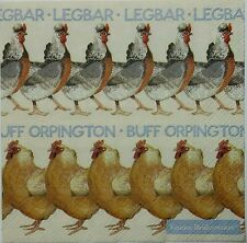 CHICKEN  2 single LUNCH SIZE  paper napkins for decoupage 3-ply