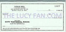 Frank Gorey Collection Lucille Ball Personal Blank Check I LOVE LUCY