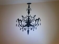 Chandelier vinyl wall decal- room decor wall art