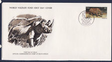 WWF enveloppe 1er jour  RSA   le rhinocéros noir d' Afrique