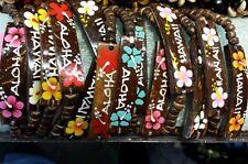 """6 Coconut 6""""Elastic Hawaiian Hawaii jewelry ID Bracelet"""